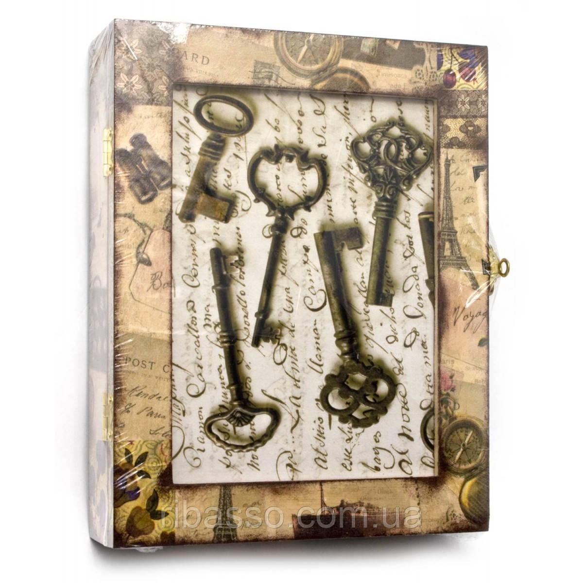 """Ключница """"Ключи"""", Париж массив дерева 25,5х19,5х5,5 см. 26072"""
