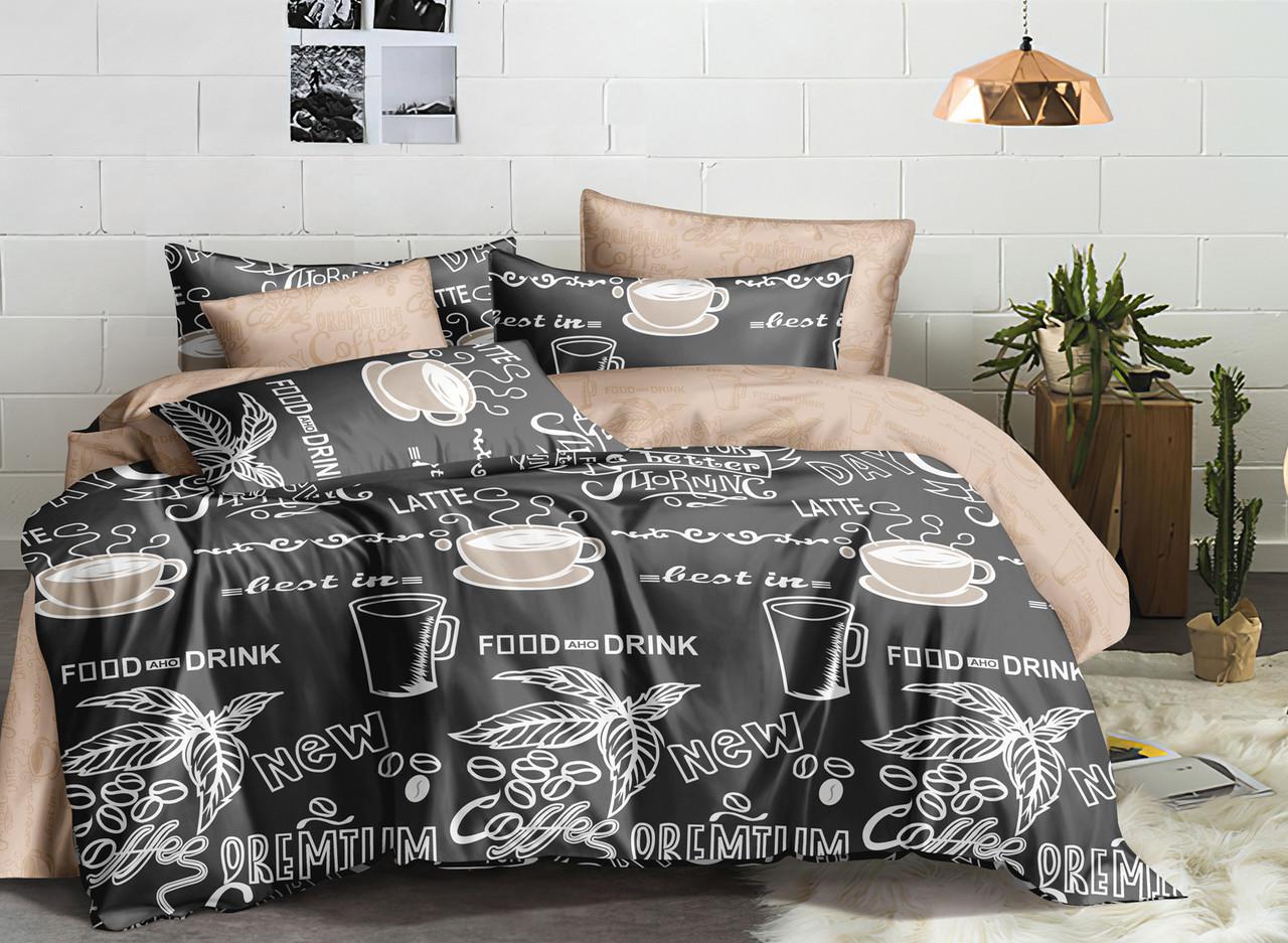 Двуспальный комплект постельного белья евро 200*220 сатин (16830) TM КРИСПОЛ Украина