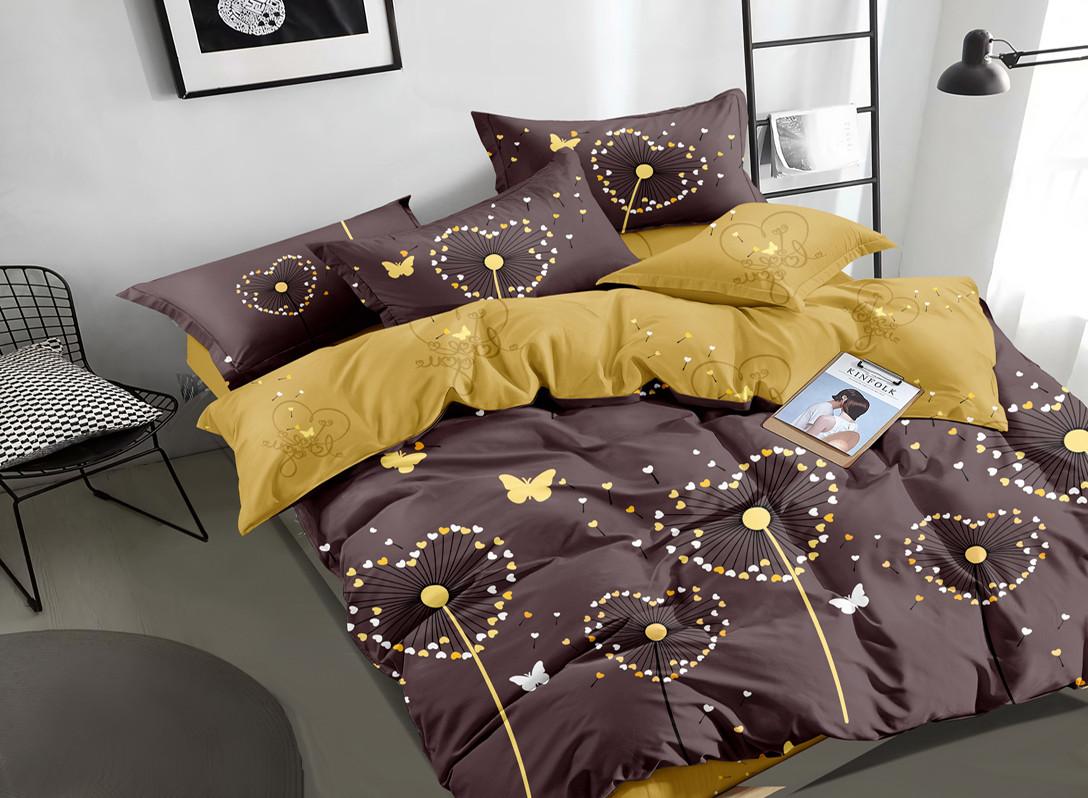 Двуспальный комплект постельного белья 180*220 сатин (16800) TM КРИСПОЛ Украина