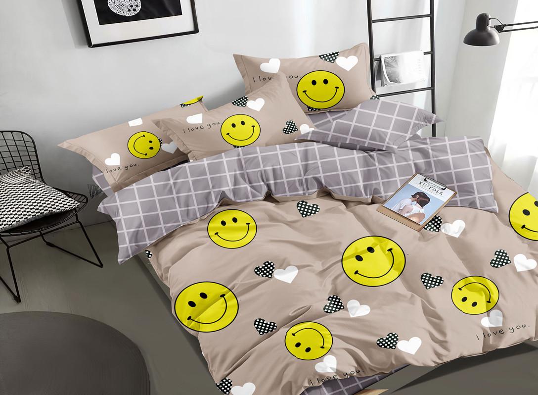 Двуспальный комплект постельного белья 180*220 сатин (16805) TM КРИСПОЛ Украина