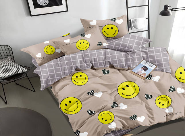 Двуспальный комплект постельного белья 180*220 сатин (16805) TM КРИСПОЛ Украина, фото 2