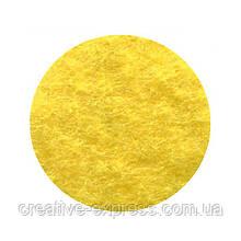 Фетр листковий (поліестер), 21,5х28 см, Жовтий, 180г/м2, ROSA Talent