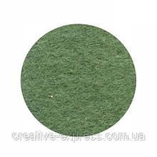 Фетр листковий (поліестер), 21,5х28 см, Зелений травяний, 180г/м2, ROSA Talent