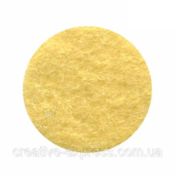 Фетр листковий (поліестер), 21,5х28 см, Жовтий пастельний, 180г/м2, ROSA Talent