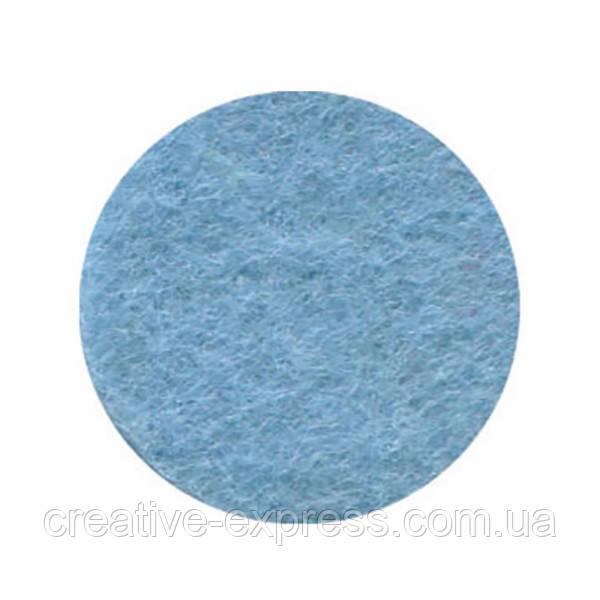 Фетр листковий (поліестер), 21,5х28 см, Блактиний пастельний, 180г/м2, ROSA Talent