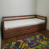 """Односпальная кровать """"Тахта"""" - Филипп в тонировке, массив ольхи"""