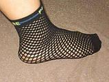 Шкарпетки жіночі капронові сітка Bross чорні, фото 2