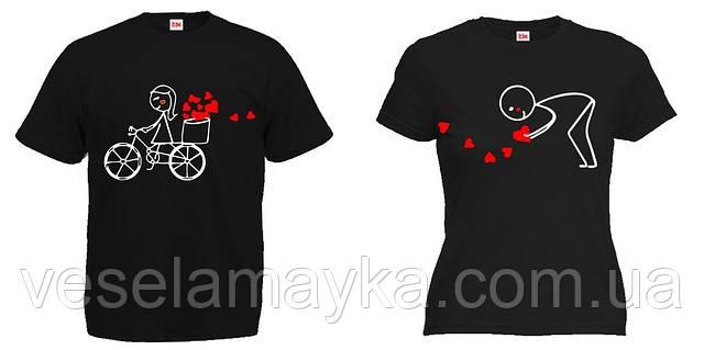 """Парная футболка """"Велосипед"""""""
