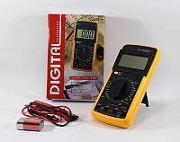 Мультиметр тестер вольтметр цифровой DT9205A щупы и крона в подарок