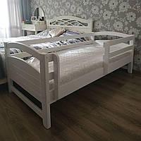 """Односпальная кровать """"Тахта"""" - Милана белая, массив ольхи"""