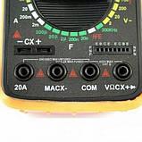 Мультиметр тестер вольтметр цифровой DT9205A щупы и крона в подарок, фото 4