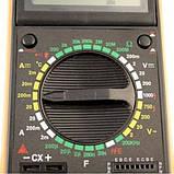 Мультиметр тестер вольтметр цифровой DT9205A щупы и крона в подарок, фото 5