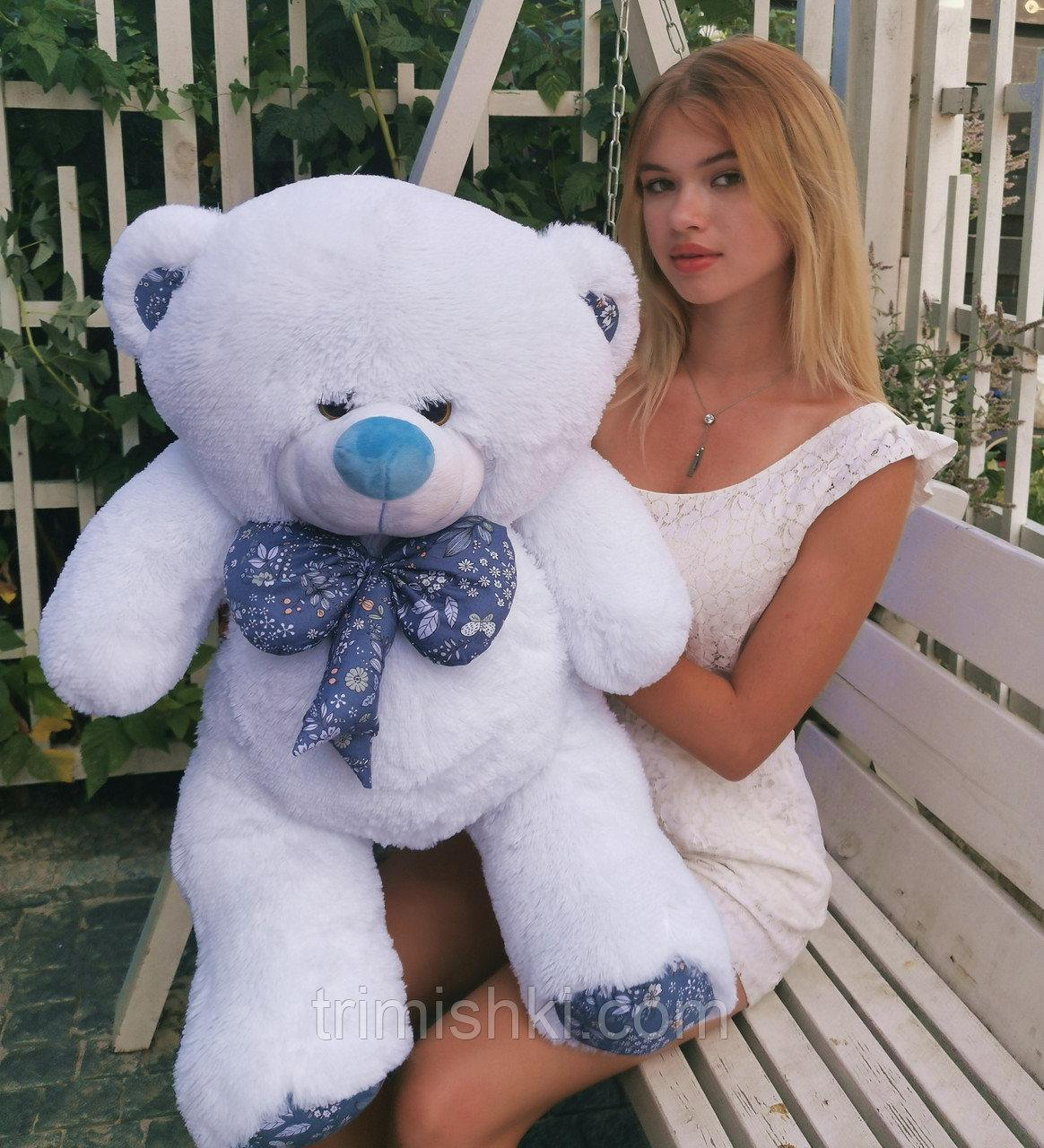 Гарний плюшевий ведмедик Білий 100 див.