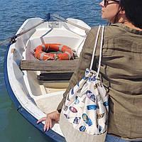 Рюкзак женский тканевый Перо