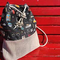 Рюкзак женский тканевый Путешествия
