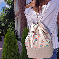 Рюкзак женский тканевый Радуга