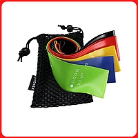 Набор фитнес резинки для фитнеса U-Powex с 5 лент и чехла в упаковке. ОРИГИНАЛ. Резинки Хит США!