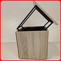 Пуф куб трансформер 6 в 1 Смарт табурет пуфик 6в1 квадратный на колесах для кухни сонома
