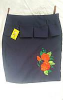Детская юбка для девочки с вышивкой