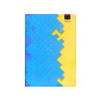 """Блокнот А6 твёрдая обложка, 160 л. """"Жовто-блакитний пазл"""" 1В951"""