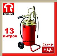 Torin TRG2096. 13 литров. Нагнетатель консистентной смазки, густой, ручной, смазочный, высокого давления