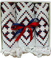 Подарочный набор жаккардовых полотенец Турция White