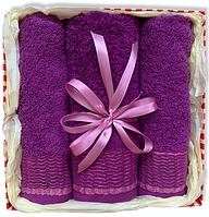 Подарочный набор махровых полотенец ТурцияVIOLET