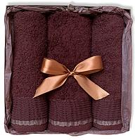 Подарочный набор махровых полотенец Турция CHOCOLATE