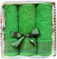Подарочный набор махровых полотенец Турция GREEN