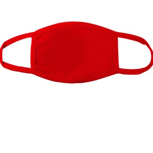 Красная многоразовая маска для лица