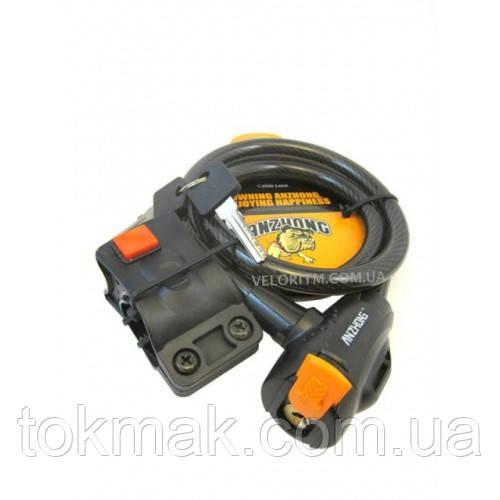 """Замок """"Черно-оранжевый"""" 12х1500,Ключ-2ст лазер, 1-сорт"""