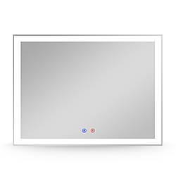 Зеркало прямоугольное 80*60см, с подсветкой, диммером, подогревом зеркала