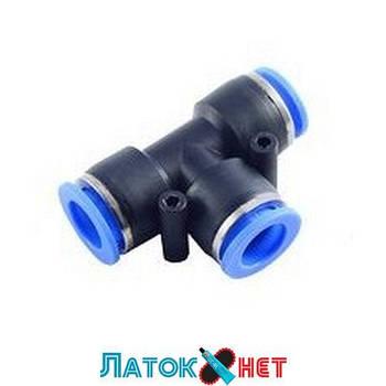 Фитинг T-образный для пластиковых трубок 12 мм RF-SPE12 Rock Force