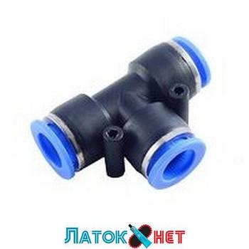 Фитинг T-образный для пластиковых трубок 14 мм RF-SPE14 Rock Force