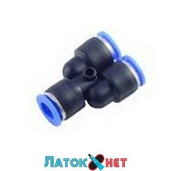 Фитинг Y-образный для пластиковых трубок 10 мм RF-SPY10 Rock Force