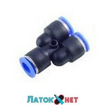 Фитинг Y-образный для пластиковых трубок 4 мм RF-SPY04 Rock Force