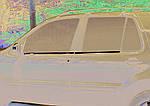 Mercedes ML W163 Зовнішня окантовка вікон (4 шт, нерж) OmsaLine - Італійська нержавійка