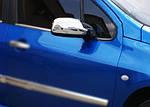Peugeot 307 Накладки на дзеркала (2 шт., пласт.)