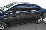 Toyota Corolla 2007-2013 рр. Зовнішня окантовка вікон (4 шт, нерж) OmsaLine - Італійська нержавійка