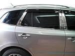 Hyundai Santa Fe 2 2006-2012 рр. Молдинг дверних стійок (6 шт, нерж.)