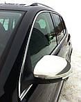 Volkswagen Tiguan 2007-2016 рр. Накладки на дзеркала (2 шт., нерж) OmsaLine - Італійська нержавійка