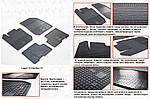 Dacia Dokker 2013↗ рр. Гумові килимки (4 шт, Stingray Premium)