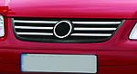 Volkswagen Touran 2003-2010 рр. Накладки на решітку (6 шт, нерж) 2003-2006 рік