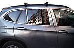 BMW X1 E-84 2009-2015 рр. Молдинги дверних стійок (нерж.) 6 шт.