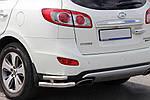 Hyundai Santa Fe 2 2006-2012 рр. Задні подвійні куточки AK003-Подвійний (нерж.)