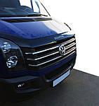 Volkswagen Crafter 2006-2017 рр. Накладки на решітку 2011↗ OmsaLine - Італійська нержавійка