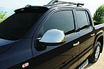 Volkswagen Amarok Накладки на дзеркала (2 шт) OmsaLine - Італійська нержавійка