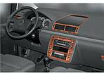 Volkswagen Sharan 1995-2010 рр. Накладки на панель Карбон