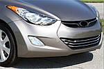 Hyundai Elantra 2011-2015 рр. Накладки на решітку (3 шт., нерж.)