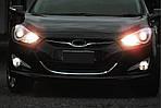 Hyundai I-40 Обведення решітки (1 шт, нерж)